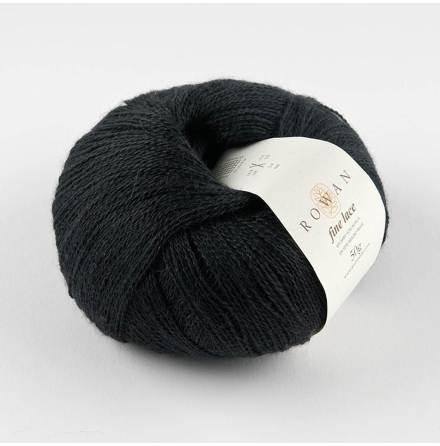Rowan - Fine Lace, Noir 934