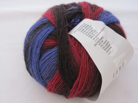 Jawoll Magic Degrade, nr 35 röd/orange/lila/grå nyanser