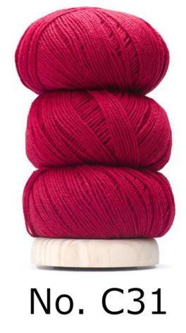 Geilsk Bomull & Ull, röd 31