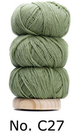 Geilsk Bomull & Ull, ljusgrön 27