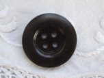 Mörk kaffebrun träknapp, 35 mm
