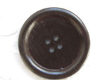 Mörkbrun träknapp, 40 mm