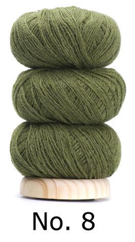 Geilsk Tunn Ull Olivgrön 8