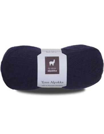 Tynn Alpakka, Färg 141 Blålila