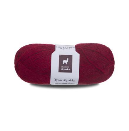 Tynn Alpakka, färg 130, röd