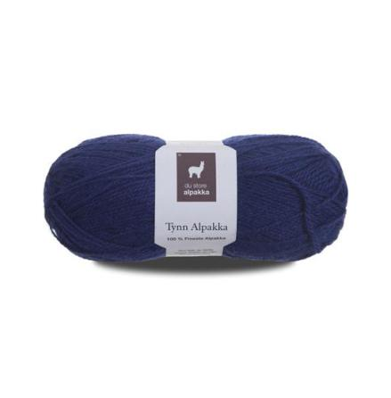 Tynn Alpakka, färg 123, blå
