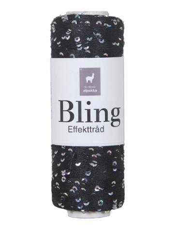 Bling Glittertråd, Svart 3002
