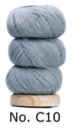 Geilsk Bomull & Ull, ljusblå 10
