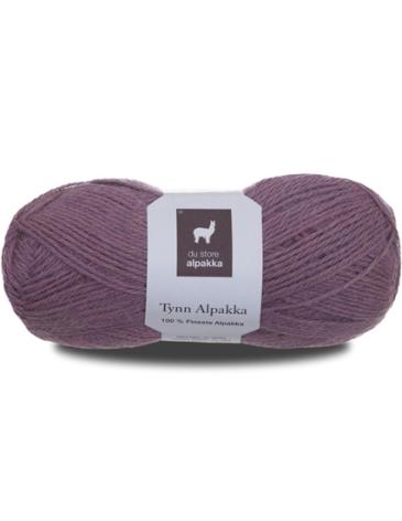 Tynn Alpakka, Färg 180 Gammelrosa