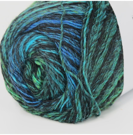 Jawoll Magic Grönt/blått/svart randande nr. 79