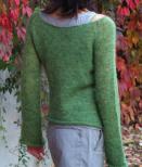 Båtringad figurnära tröja i Gotlandsullen Fårö tunn