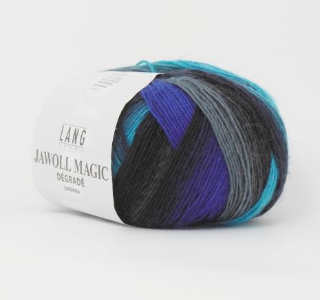 Jawoll Magic Degrade, nr. 25, mest blå+grå, lila