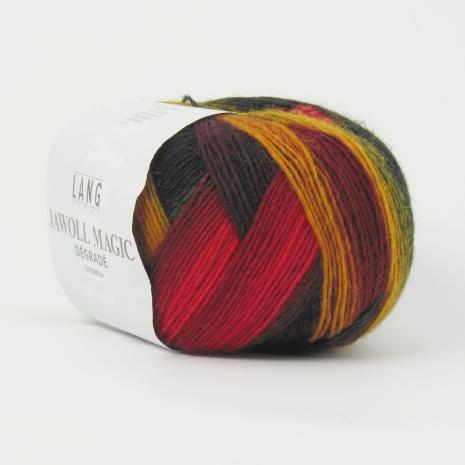 Jawoll Magic Degrade, nr 60, vacker grön, orange, mörkröd... höstig färgskala