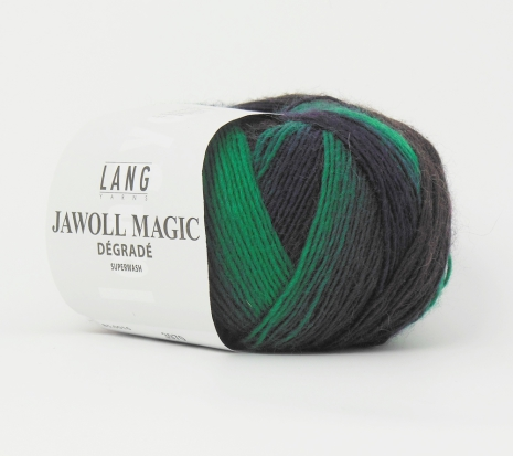 Jawoll Magic Degrade, nr 16 grön, vinröd, brun, grå nyanser
