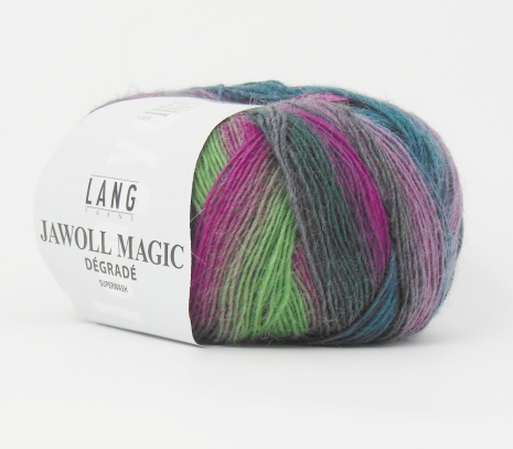 Jawoll Magic Degrade, nr 65, rosa, grön, syren, petrol...
