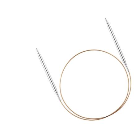 Addi rundstickor i metall - 120 cm, 4.5 mm