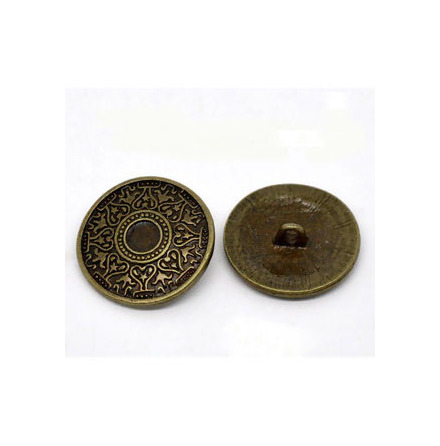 Metallknapp 25 mm Bronsfärg