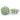 Prickig tygknapp, 15 mm oliv/gulbeige