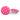Prickig tygknapp, 12 mm rosa/vit