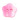 Blomma - pärlemorknapp, rosa, 18 mm