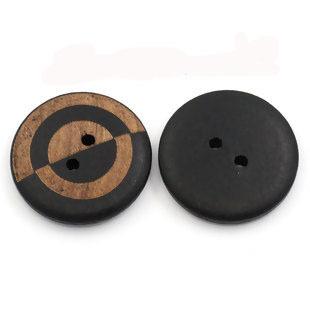 Mönstrad träknapp, 23 mm