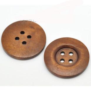 Brun träknapp, 35 mm