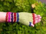Tussan - Halvvante med blommiga ränder
