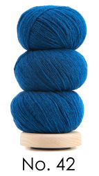 Geilsk Tunn Ull mörk turkos, nästan blå 42