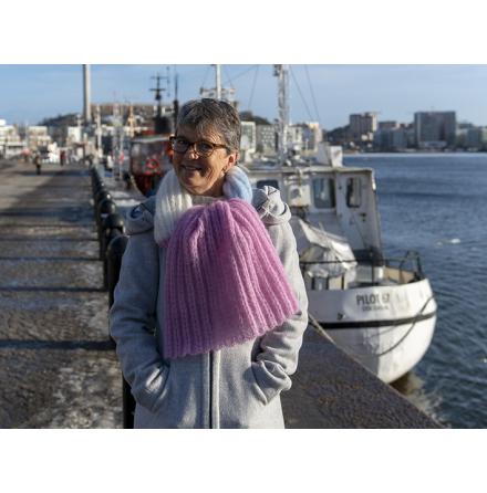 Leslie - Rak sjal/halsduk med hjärtresår