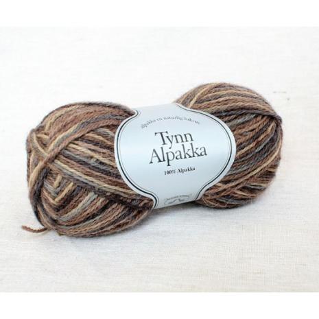 Tynn Alpakka Handmålat Färg 194